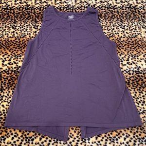 Athleta Large Tank Top Shirt Open Back Purple